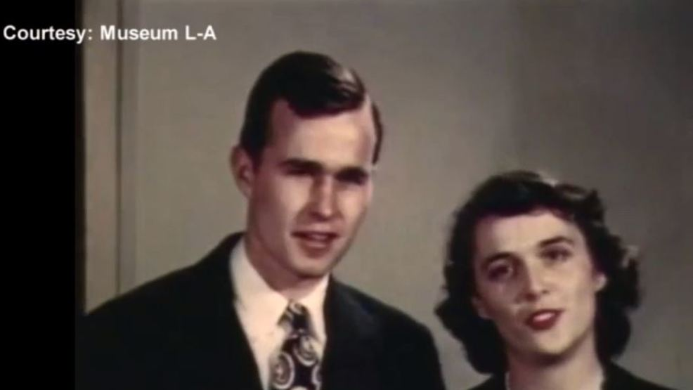 Lewiston Auburn Museum Shares Rare Footage Of Barbara Bush Before