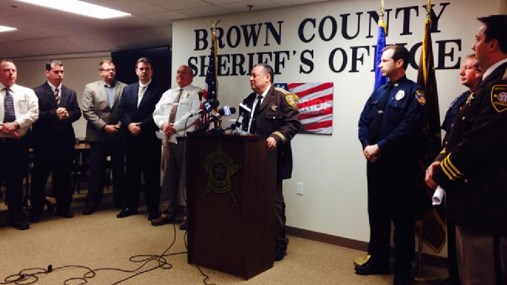 Brown Co. sheriff's officials release detailed information on the results of  an Internet sex sting, March 31, 2014. (WLUK/Gabrielle Mays)