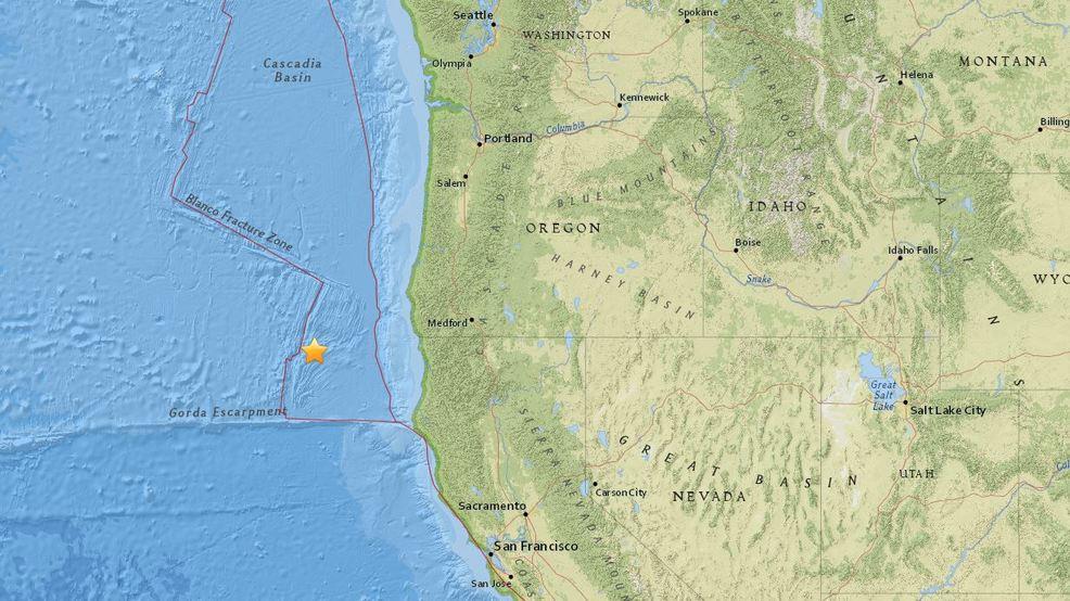 10 Earthquakes Recorded Off Southern Oregon Coast Katu