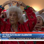 101-year-old woman performs to Christmas hits