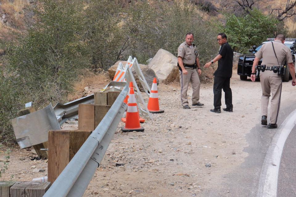 The Thai Consulate traveled to the crash site with CHP. (Photo Courtesy Thai Consulate)