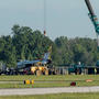 Thunderbird involved in crash hauled away before gates open at Dayton Air Show