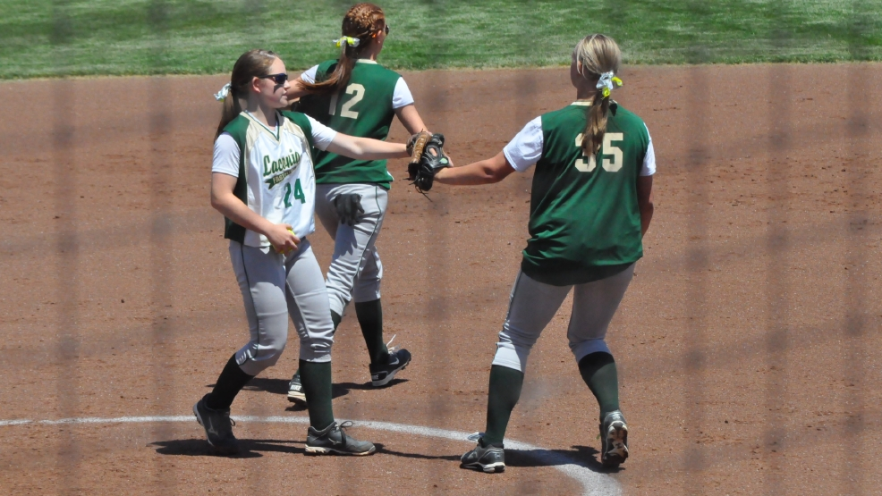 Laconia fell in the Division 3 state softball game Saturday, 1-0, to Arcadia. (Doug Ritchay/WLUK)