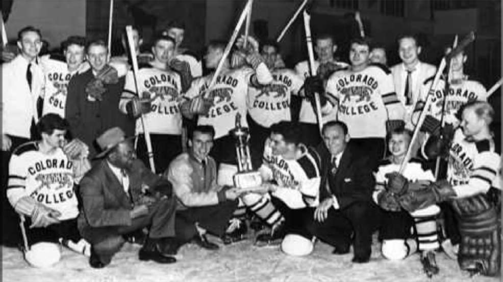 Colorado College's 1950 NCAA champions. (Courtesy Colorado College Archives)