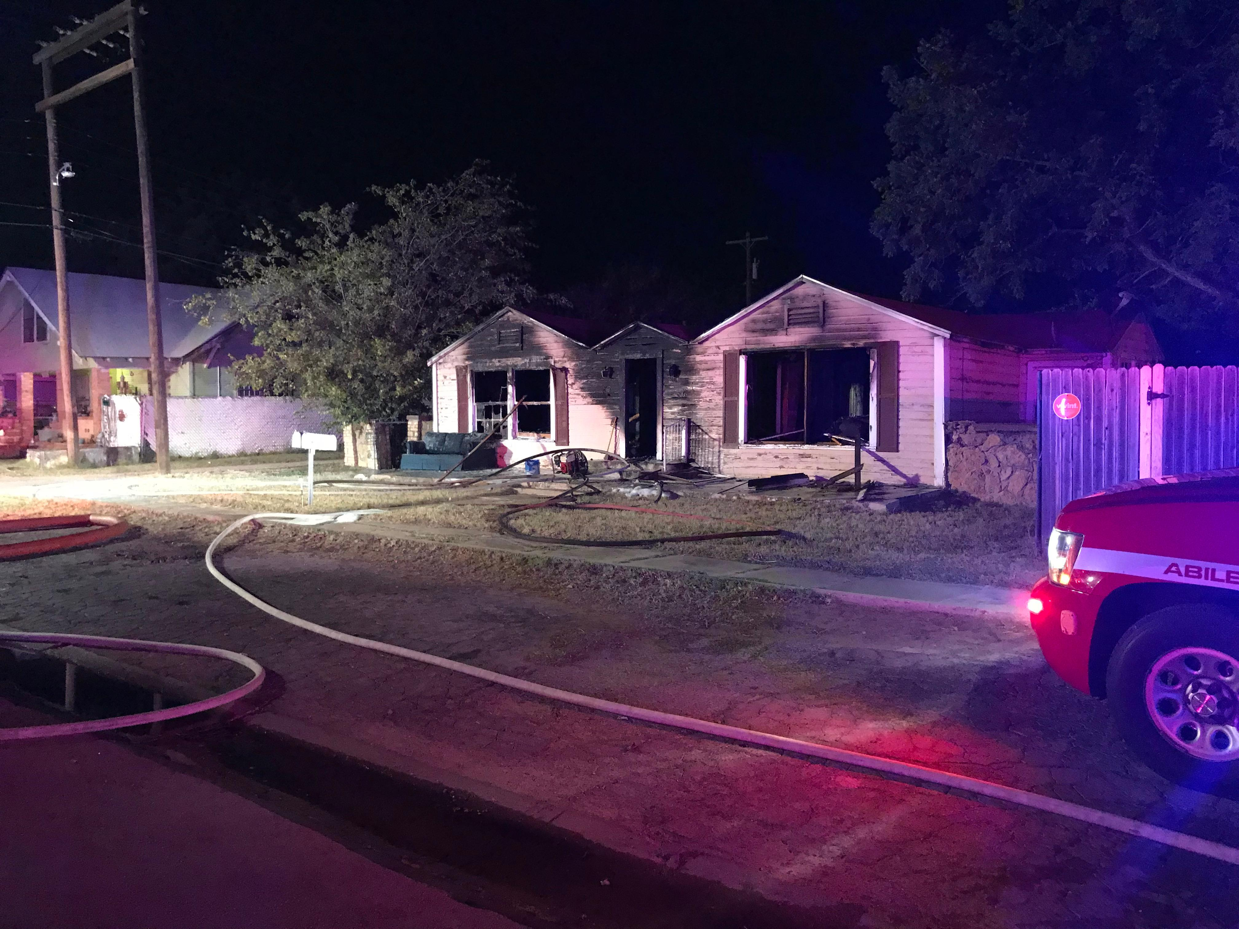Fire damaged a home Tuesday, Sept. 19 in the 1400 block of North 6th Street in Abilene.