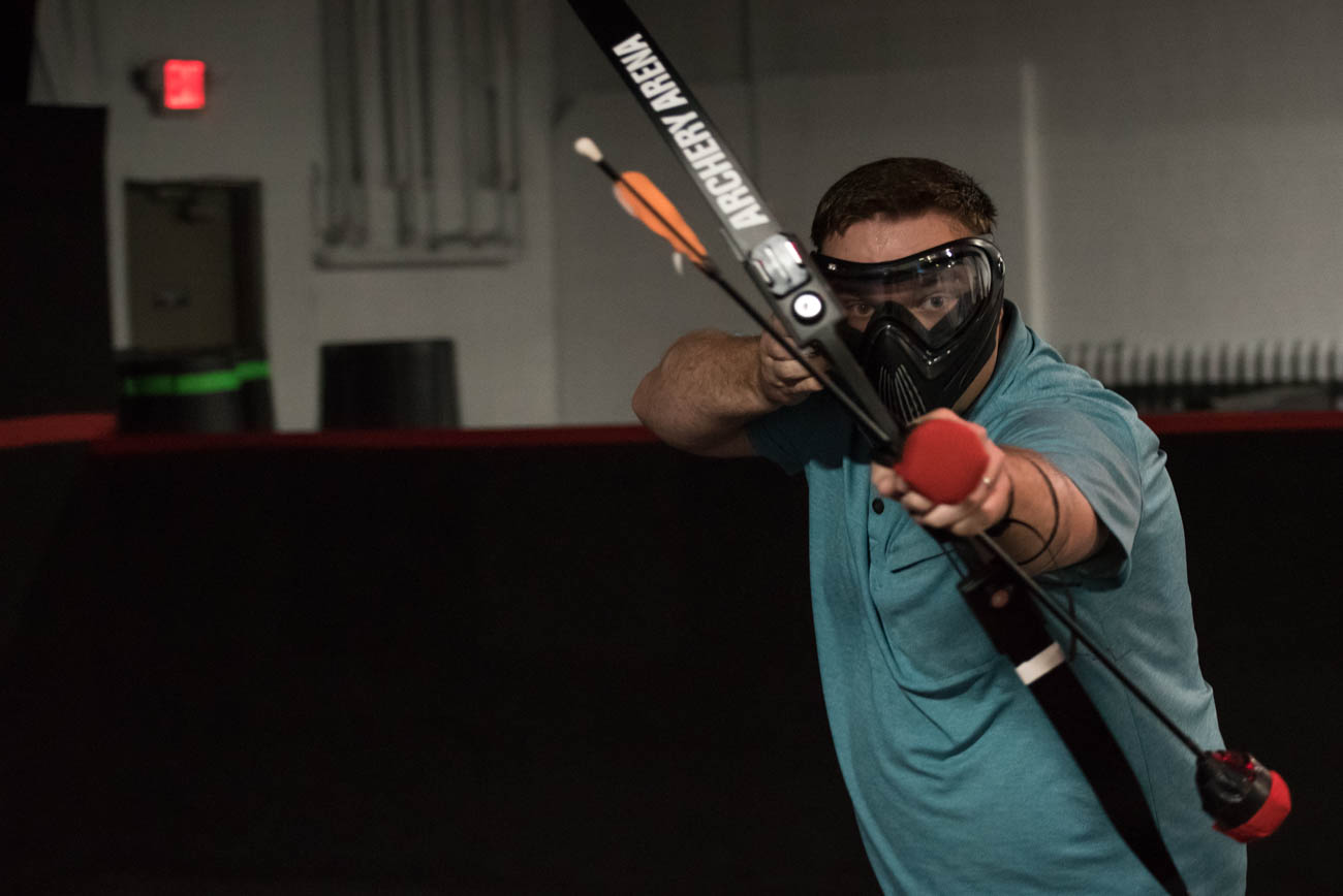 Players must be over 10 years old to participate, and everyone must wear a face mask for eye protection. Staff members train everyone to use the bow and padded arrow prior to playing, so even if you've never tried the sport before, you can learn how in a matter of minutes. Archery Arena offers individual tickets, private group tickets, and team building activities. ADDRESS: 4950 Provident Drive (45246) / Image: Mike Menke // Published: 9.2.18