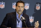Jeff Fisher, head coach of the St. Louis Rams and member of the NFL competition committee answers questions about rule changes during a news conference at the NFL football annual meeting in Orlando, Fla., Wednesday, March 26, 2014. (AP Photo/John Raoux)