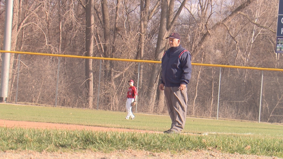 Longtime WIAA umpire Bob Fletcher works a recent game between Green Bay Southwest and Manitowoc.