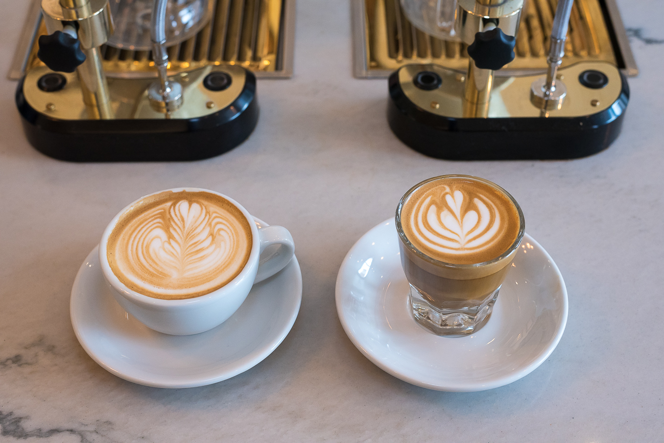 A cappuccino and a cortado / Image: Phil Armstrong, Cincinnati Refined // Published: 3.12.18