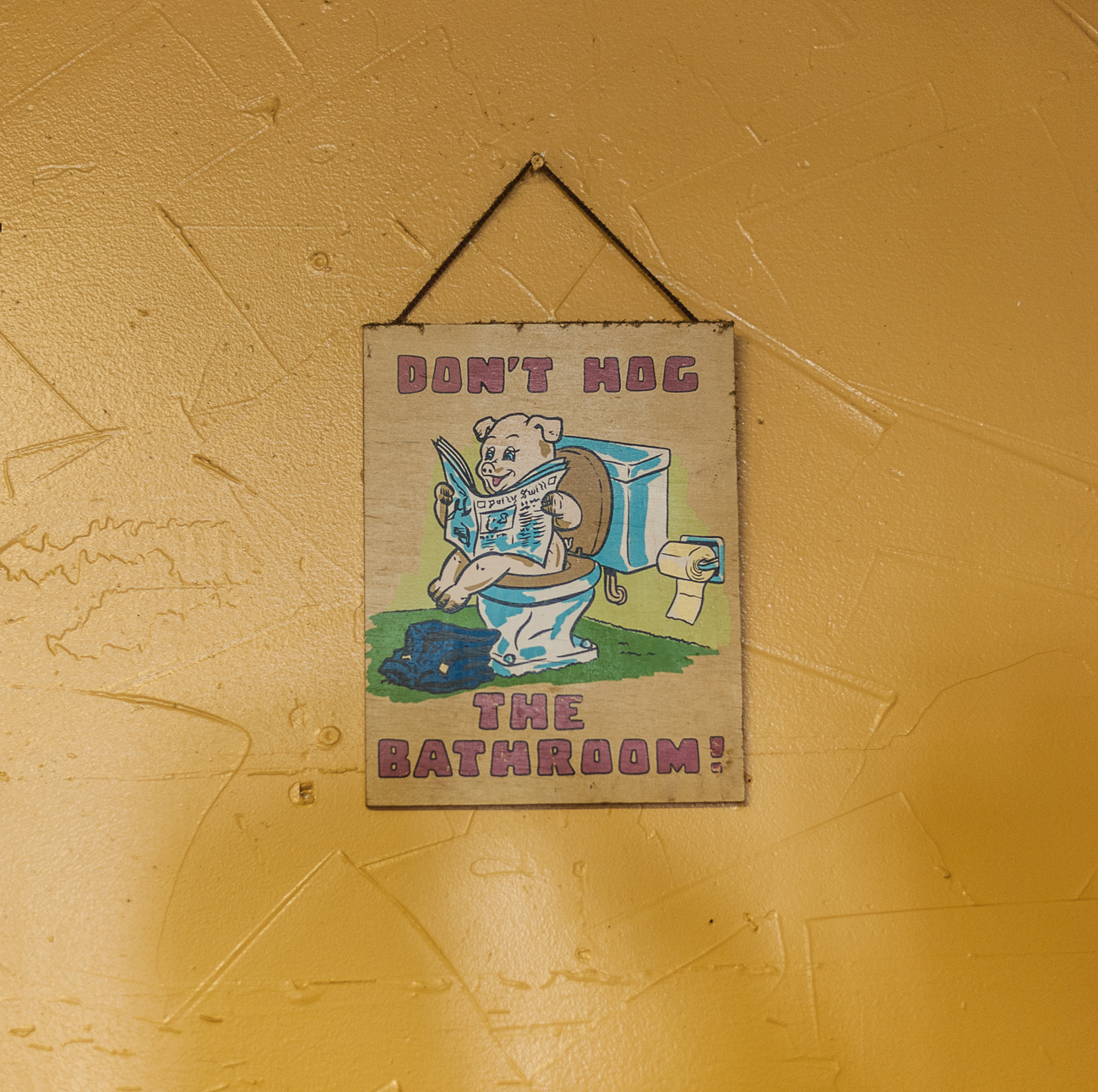 Don't hog the bathroom!{ }/ Image: Kellie Coleman // Published: 6.19.20