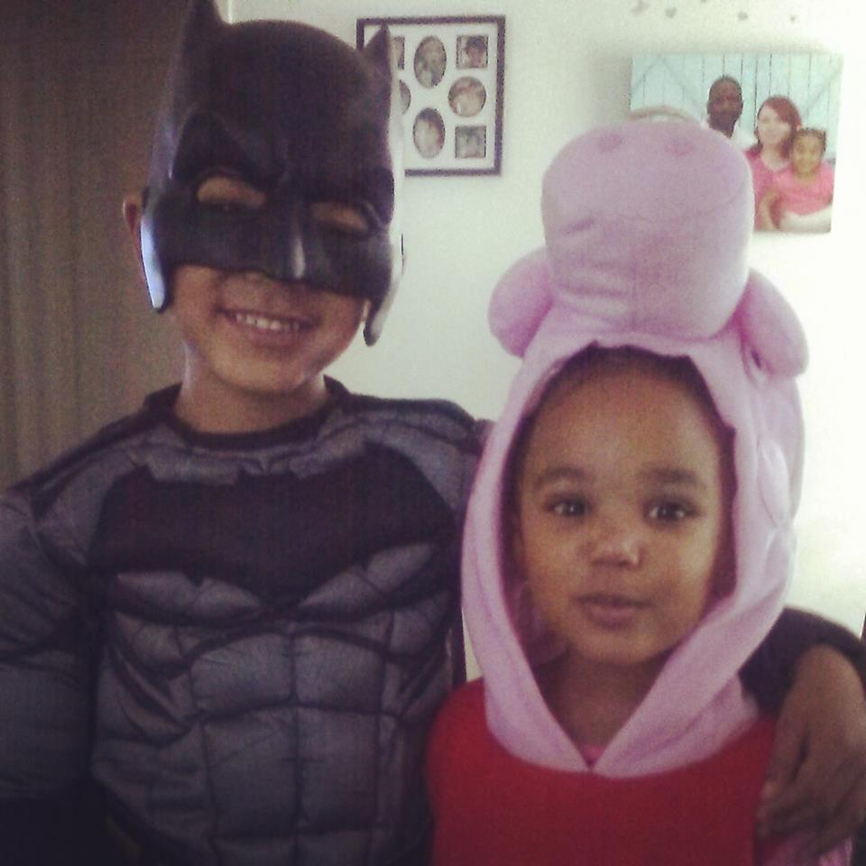 Batman and Peppa Pig. Submitted by Stephanie Rose Crockett