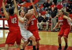 Kimberly's Frankie Wurtz drives to the basket against Neenah during their game Friday.
