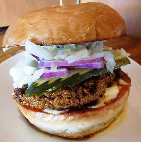 Nashville Hot Chicken.   John Howie Steak, located in downtown Bellevue, brings major sandwich game. Every day the steakhouse features a unique and new sandwich called they call #SandwichOfTheDay. Enjoy the gallery! These are just a few of the daily sandwiches that look absolutely mind-blowing. To see the current Sandwich of the Day, check out John Howie Steak's Facebook page. (Image courtesy of John Howie Steak)