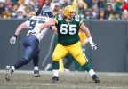 Green Bay Packers' Mark Tauscher (65) is seen during the first half of a game against the Seattle Seahawks Sunday, Dec. 27, 2009, in Green Bay. (AP Photo/Morry Gash)