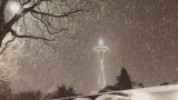 Winter is here early! A snowy night graces Puget Sound region