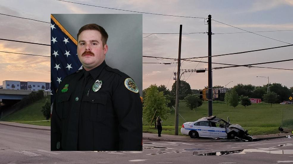 Police say Officer John Anderson was killed when he was struck by a car driven by a 17-year-old early Thursday morning. Both images via Metro Nashville P.D.