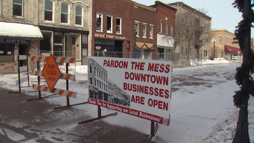 Watson Street will reopen Thursday after the city braces two buildings destroyed by a December fire.