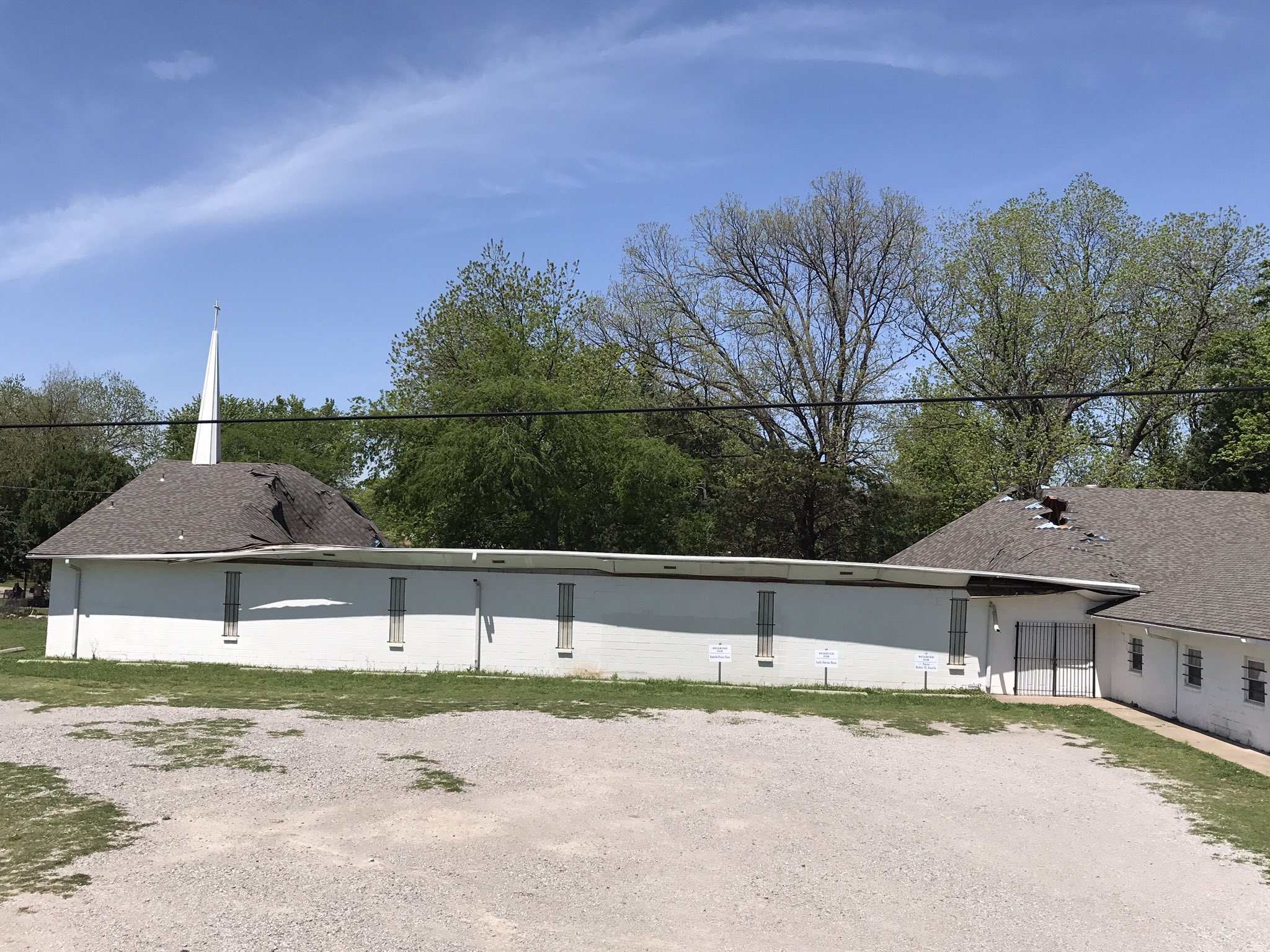 The roof of a vacant metro church collapsed April 18. (Oklahoma City Fire Department)