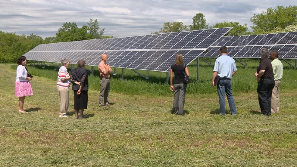 The Sisters of St. Francis of the Holy Cross flipped the switch on its new solar power system on Thursday, June 5, 2014. (WLUK)