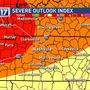 Severe Storm risk raised for parts of Middle Tennessee
