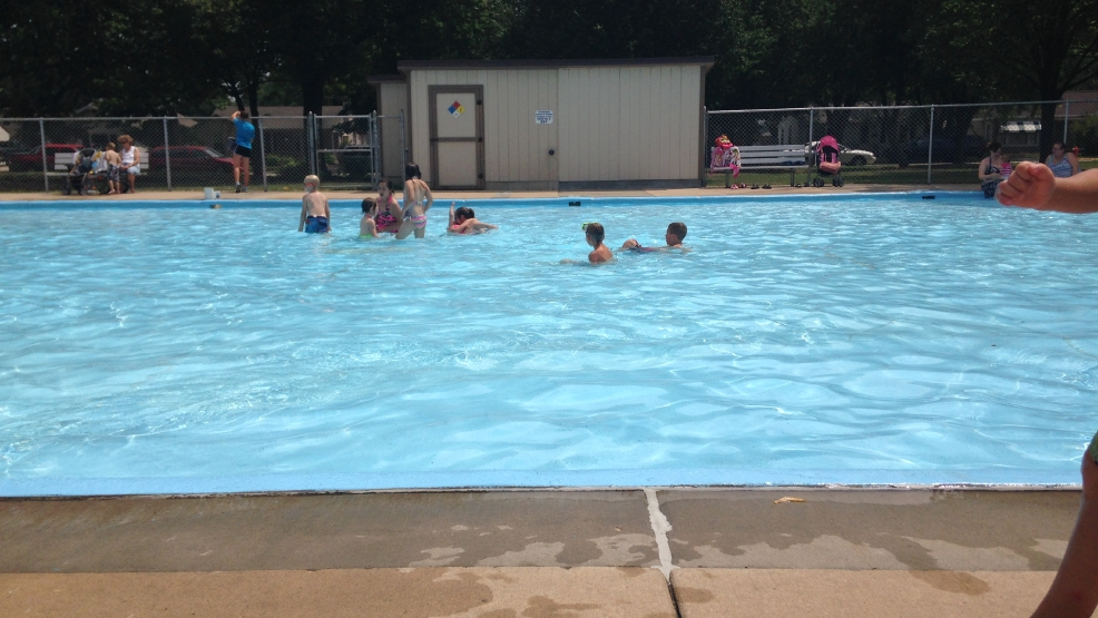 Kids splash around in the wading pool on Green Bay's west side