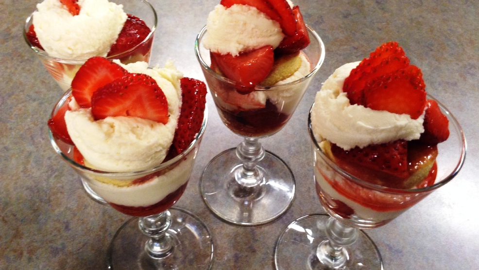 Roasted Strawberry Trifles