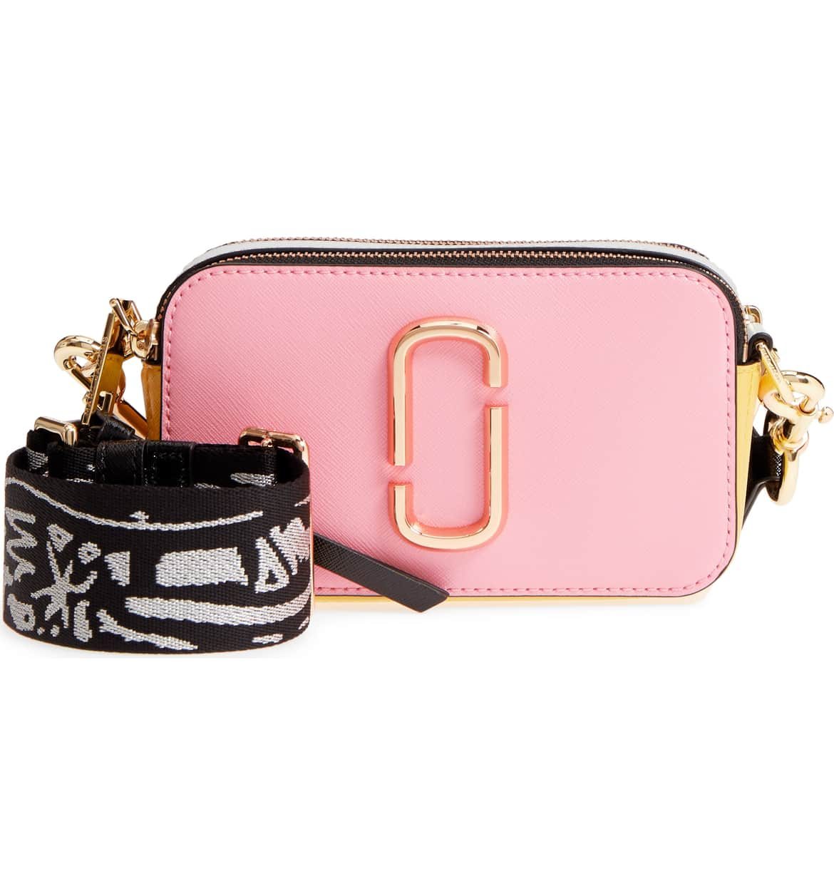 An oversize double-J logo gleams from the side of a chic multicolor bag you can carry as a boxy clutch. CUUUTE!!! $295 (Image: Nordstrom){ }