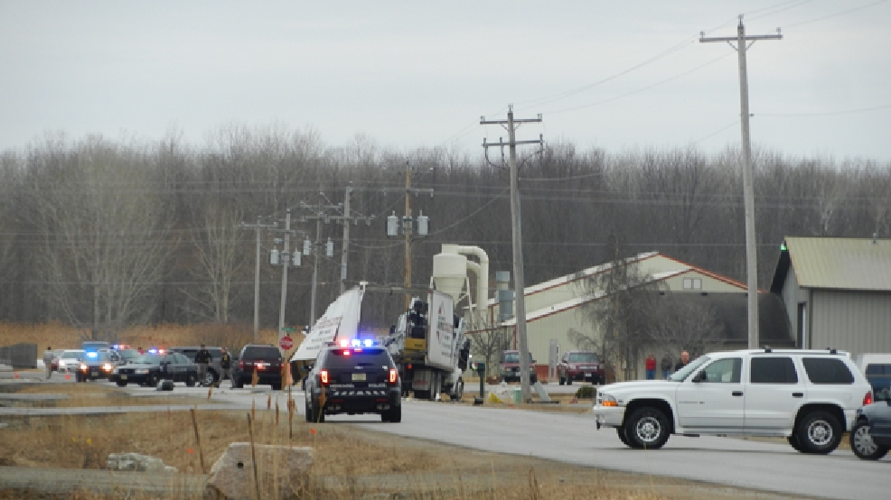 Emergency crews on the scene of a truck explosion in the village of Howard, Thursday, April 3, 2014. (ReportIt/Rick Nuetzel)