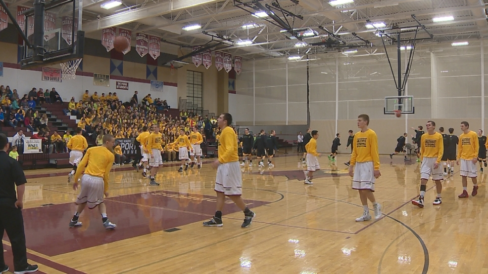 De Pere students and athletes wore yellow #KennyStrong shirts in support of teen suicide awareness.