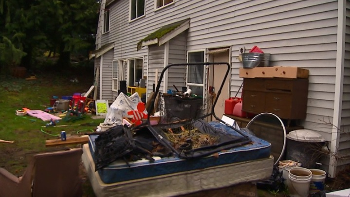 Officers arrived to find the house padlocked and a 7-year-old girl inside the Lake Stevens, Wash. home. Officers broke into the home and found the girl along with her 3-year-old brother, abandoned and living in deplorable conditions. Upstairs, their 11-month-old brother was locked in a room. (KOMO)