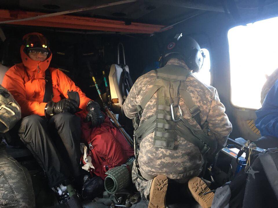 Hiker saved on Pacific Crest Trail after sending search and rescue teams an SOS. (Courtesy of Yakima County Search and Rescue.)