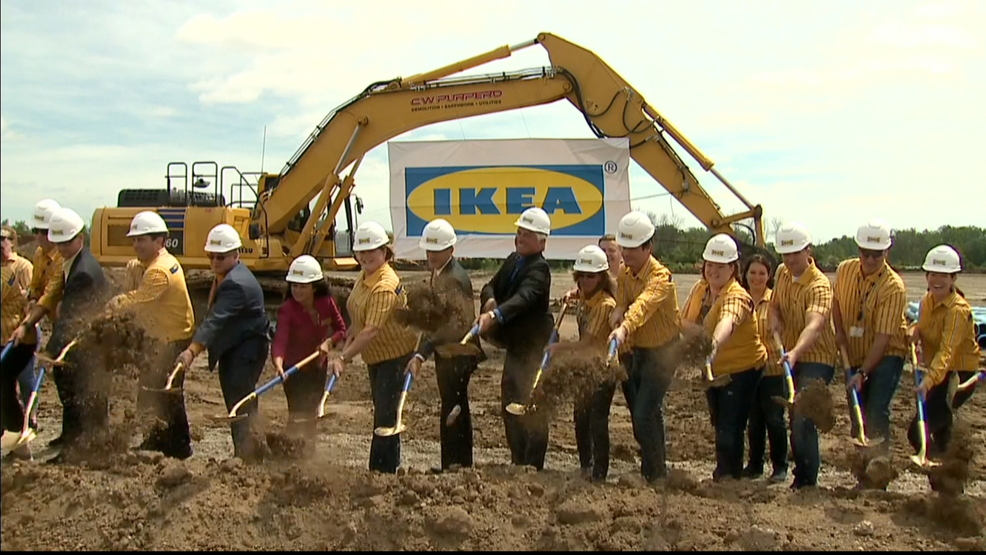 A ceremonial groundbreaking is held for Wisconsin s first IKEA store June  29  2017  in Oak Creek   Image courtesy WITI TV. Construction begins on Wisconsin s first IKEA store   WLUK