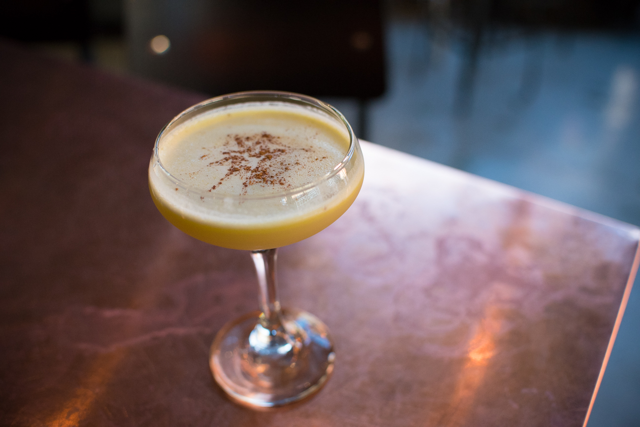 Phoenix: Espolon anejo, vanilla simple, lemon juice, egg white, and olive oil / Image: Phil Armstrong, Cincinnati Refined // Published: 12.30.16