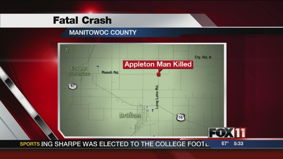 Appleton man killed in Manitowoc Co. crash