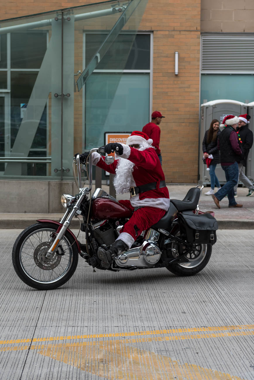 The 11th Annual Cincinnati Santacon was held on Saturday, December 8, 2018. Participants started at JACK Casino and pub crawled their way through Downtown and OTR wearing Christmas outfits. The ticketed event benefitted The Cure Starts Now, an organization dedicated to fighting cancer. / Image: Mike Menke // Published: 12.9.2018