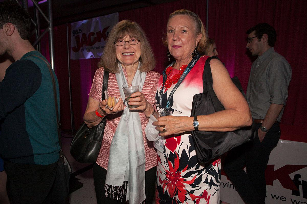 Marilyn Sloan and Jan Drago party the night in McCaw Hall at the SIFF Opening Night Gala. (Image: Joshua Lewis / Seattle Refined)