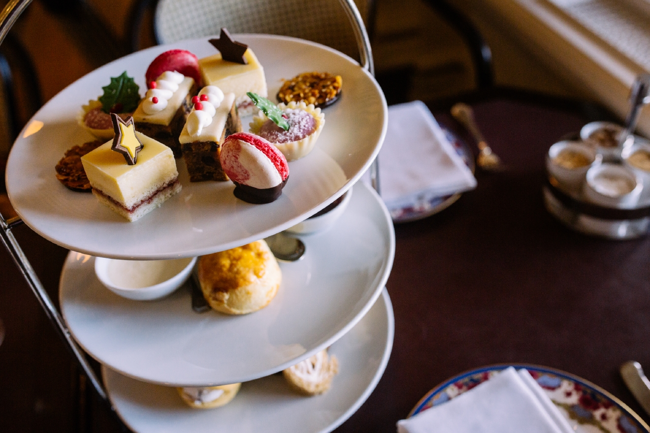 The Empress has been serving up afternoon tea since 1908, complete with Empress cakes, scones, pastries, clotted creams and strawberry preserves with fresh lavender from their own rooftop herb garden, and 21 loose leafs teas. (Image: Joshua Lewis / Seattle Refined)