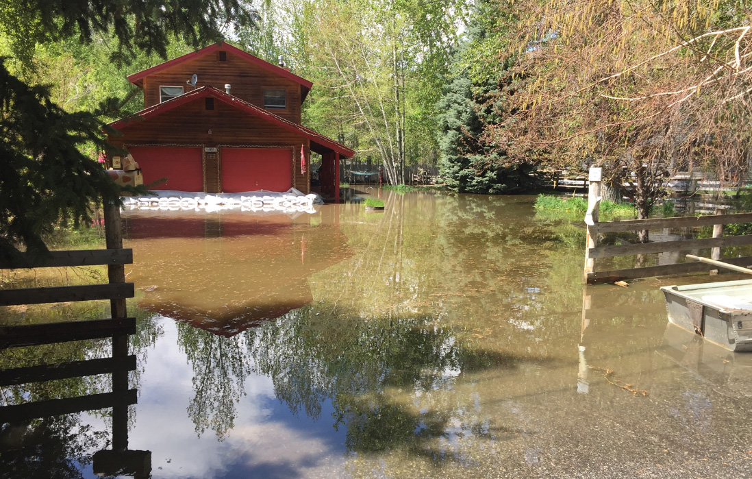 About 30 homes in the Hailey area are dealing with flooding from the Big Wood River in Blaine County. Officials say flooding is expected to get worse later this month as more mountain snow melts.