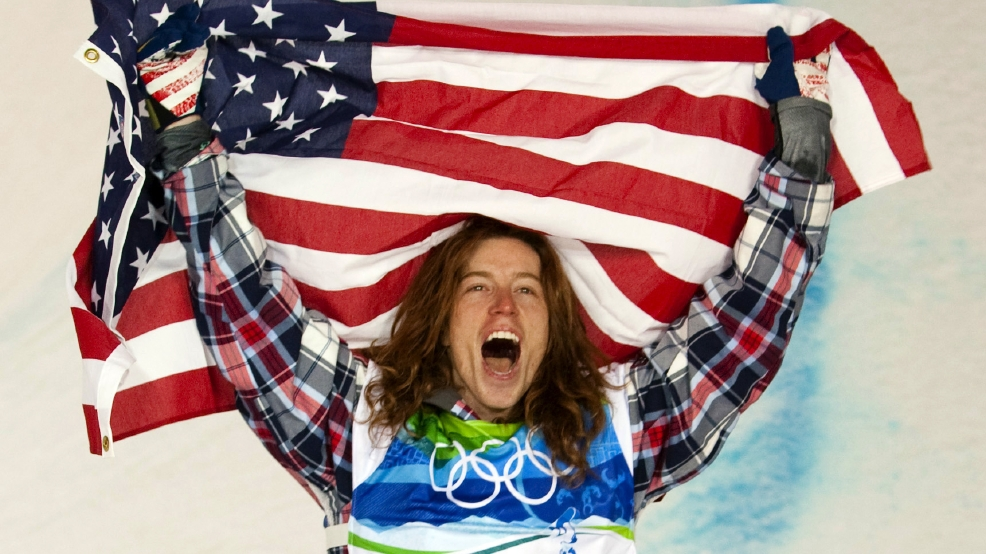 FILE - In this Feb. 17, 2010, file photo, Shaun White of the United States celebrates his gold medal in the men's snowboard halfpipe at Cypress Mountain in West Vancouver, Brtish Columbia, at the 2010 Vancouver Olympic Winter Games. White said Wednesday, Feb. 5, that he is pulling out of the Olympic slopestyle contest to focus solely on winning a third straight gold medal on the halfpipe. (AP Photo/The Canadian Press, Sean Kilpatrick, File)