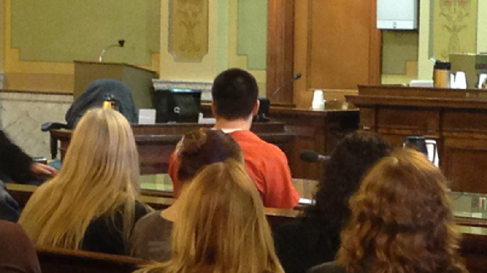 Ryan Rivard in court for his sentencing hearing on Friday, May 2, 2014. (WLUK/Laura Smith)