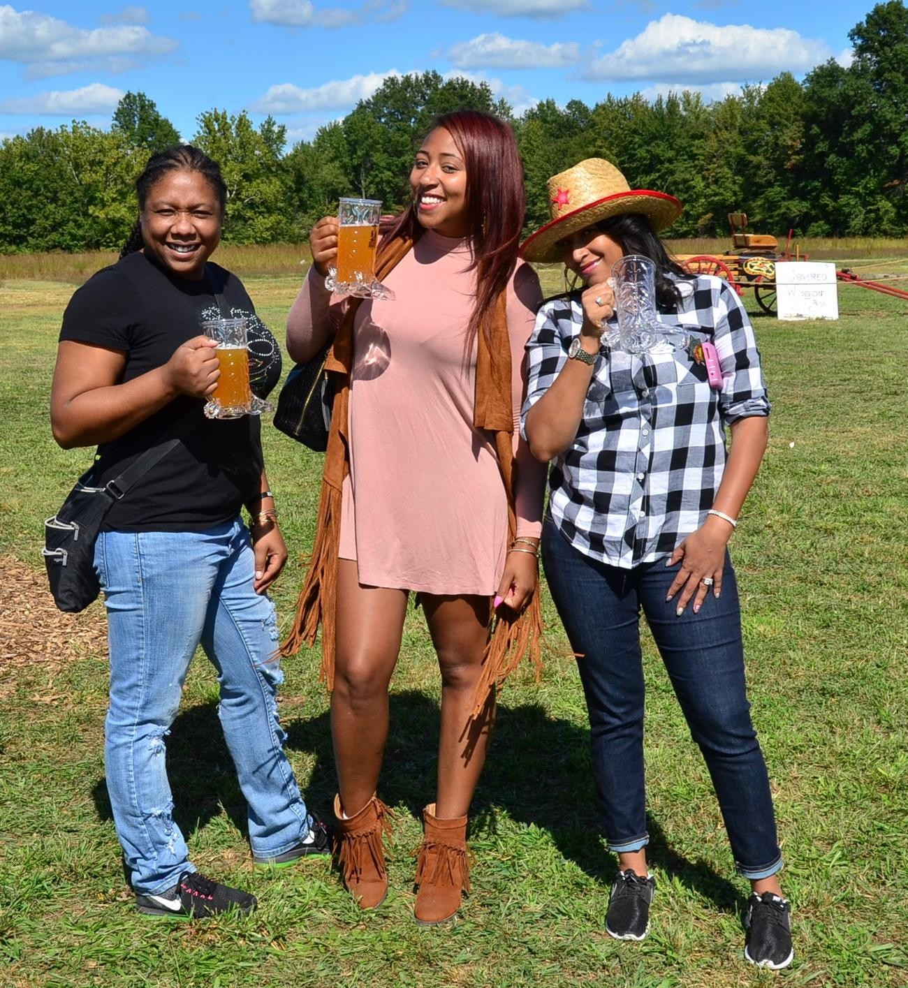 People: Tamica Thomas, Sheena Worthen, and Princess Cody / Event: Old West Festival / Image: Leah Zipperstein, Cincinnati Refined/ Published: 10.1.17