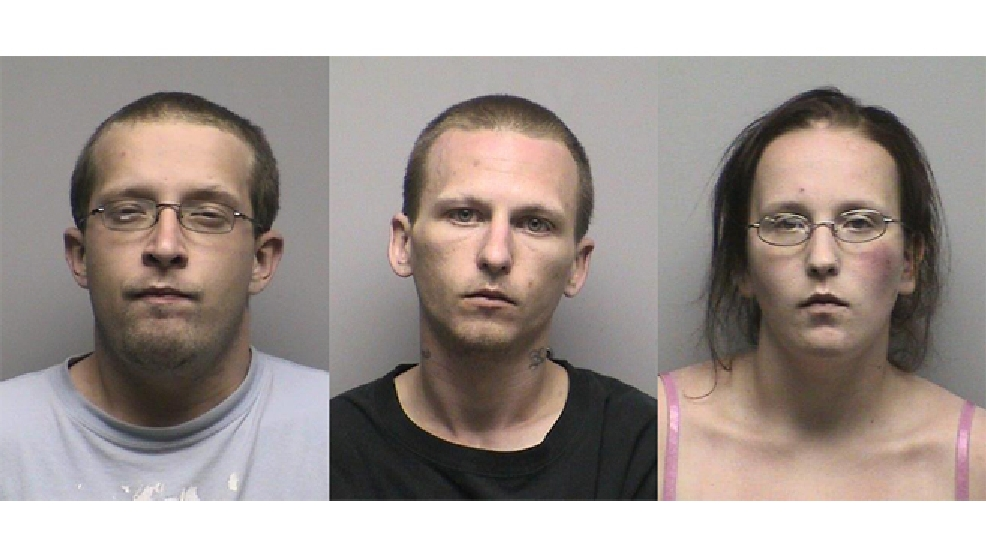 From left to right: Joseph Anderson, Nicholas Block, and Ashley Van Norman (Oconto Co. Jail)