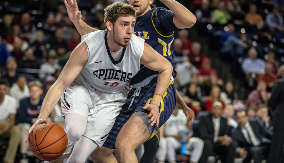 T.J. Cline, son of Hall of Famer Nancy Lieberman, leads Richmond in assists per game while sitting second in scoring. (Courtesy Richmond Athletics)