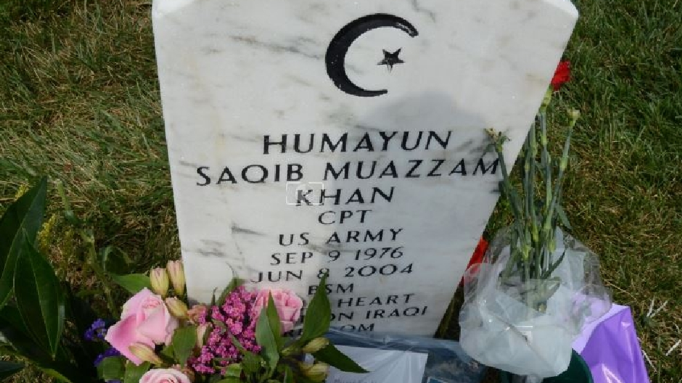 strangers visit arlington national cemetery grave of muslim us army capt khan wjla