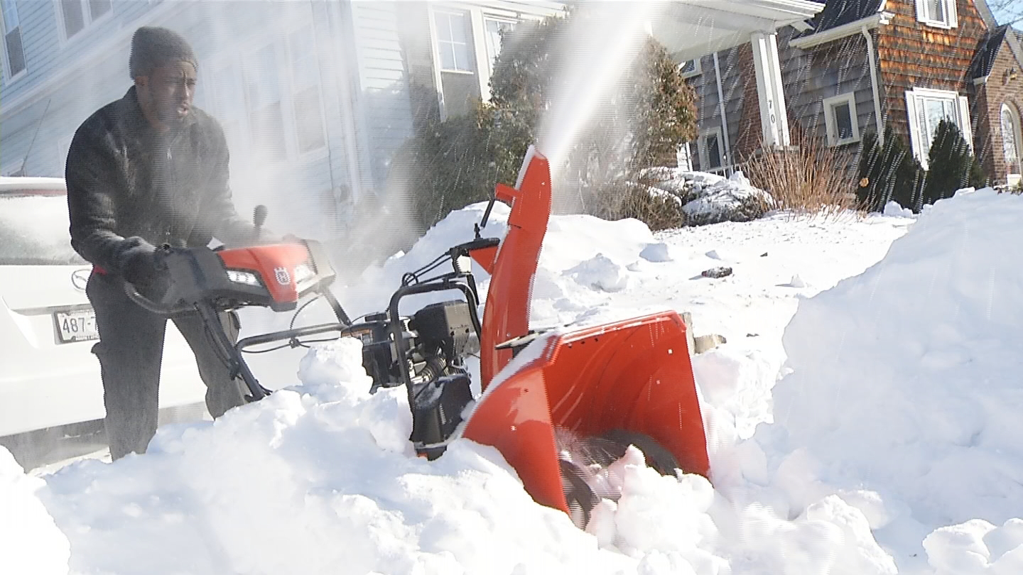 A challenge to remove the 10-17&quot; of snow in the bitter cold temperatures<p></p>