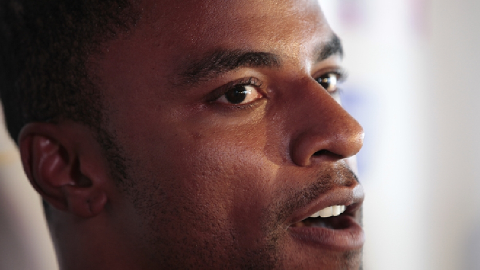 FILE - In this June 1, 2011, file photo, Darren Sharper speaks during a news conference in Metairie, La. (AP Photo/Gerald Herbert, File)