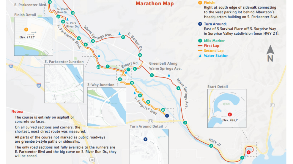 Famous Idaho Potato Marathon set to run through Boise