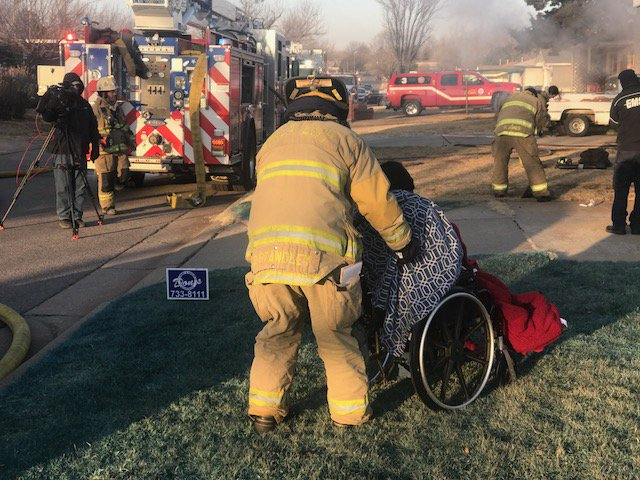 OKCFD takes care of wheelchair-bound person who escaped fire at home in 1300 block of SE 40th St. (Oklahoma City Fire Department)<p></p>