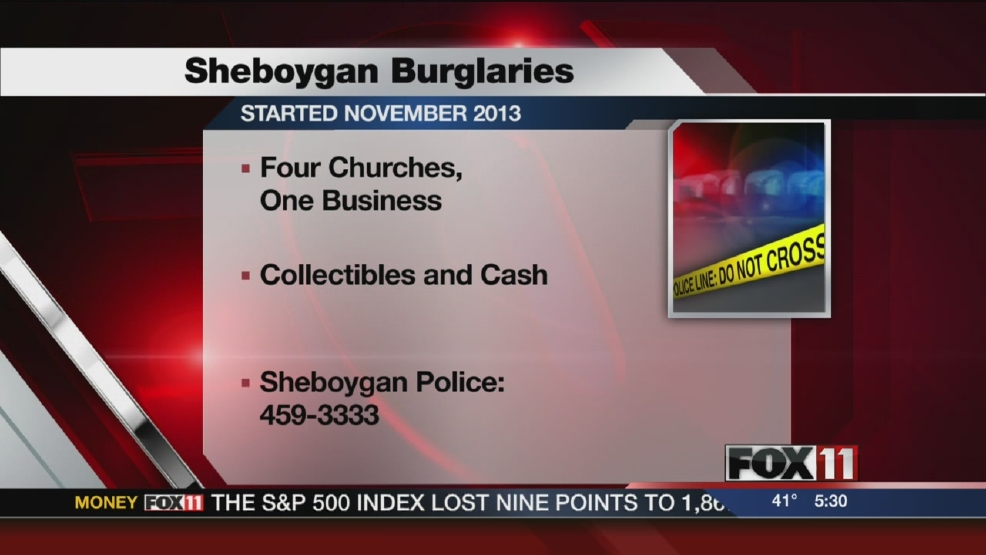 Sheboygan police investigating string of burglaries