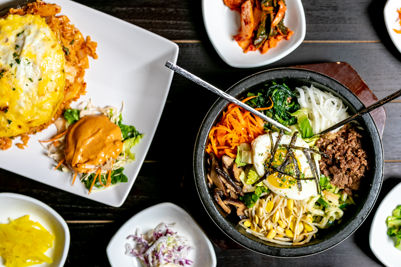 Dolsot bibimbap, kimchi fried rice, and bulgogi / Image: Amy Elisabeth Spasoff // Published: 8.31.18